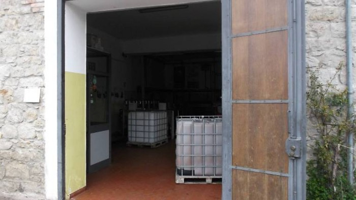 Oleificio Emilio Conti, l'ingresso