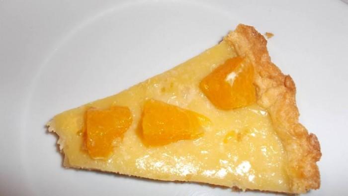 Osteria Tancredi, pasta frolla con crema al limoe e arancia