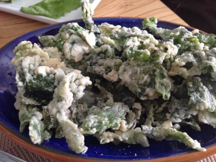 Pascalò, alghe fritte