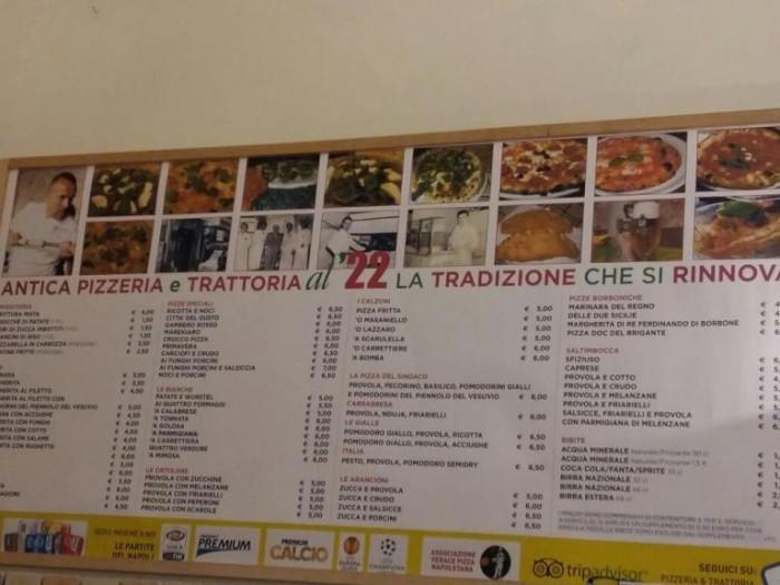 Pizzeria al 22, le pizze