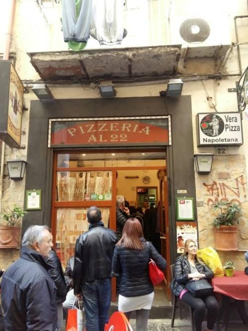 Pizzeria al 22, l'ingresso