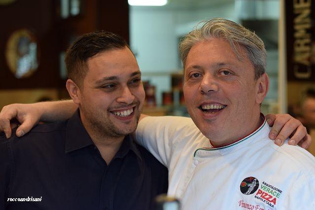 Pizziata. Gaetano Giglio e Vincenzo Esposito