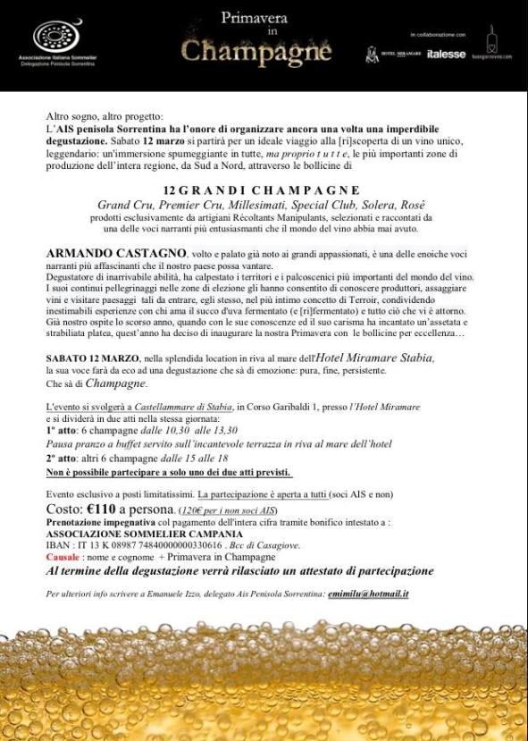 PrimaVera in Champagne con Armando Castagno, il programma