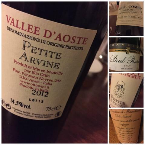 Angelo Sabatelli, i vini della serata