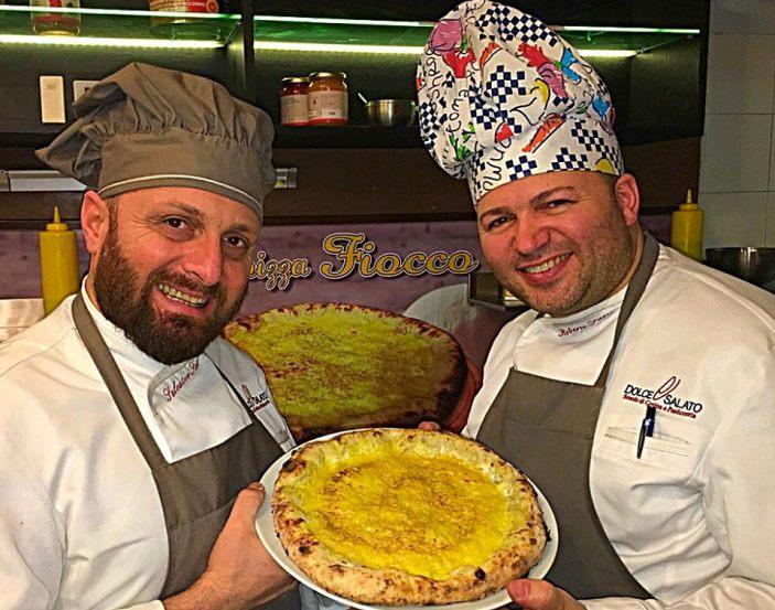 Salvatore e Roberto Susta volano conla pizza Fiocco negli  USA