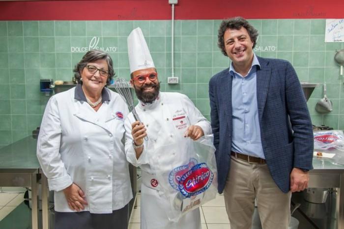 Scuola Dolce e Salato. Mario Di Costanzo con la signora Chirico e Mario Palma