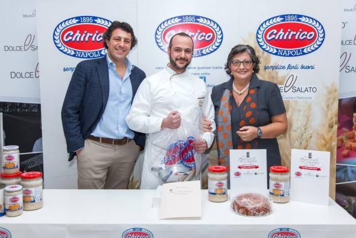 Scuola Dolce e Salato. Pietro Sparago con Mario Palma e la  signora Chirico