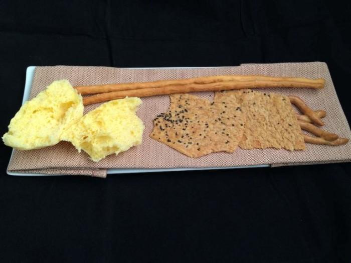 Spugna di pane, sfoglie e grissini