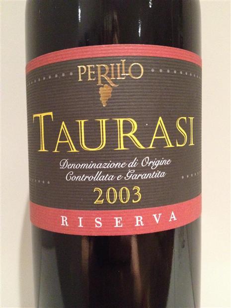 Taurasi Riserva 2003 Perillo - immagine tratta da www.cellartracker.com