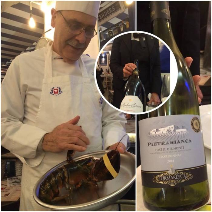 The Fisherman Burger, lo chef Giuseppe Fiusco e i vini di Antinori