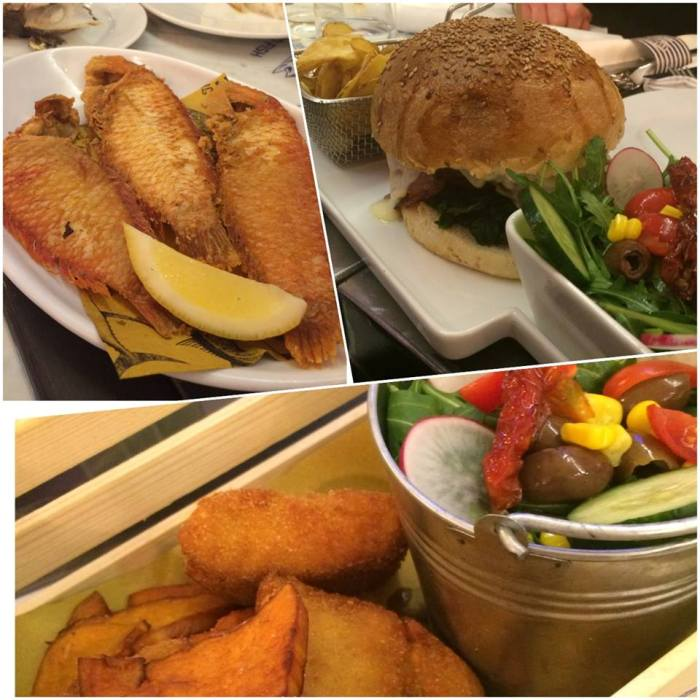 The Fisherman Burger, pesci pettine, Burger del Mozzo e Fish&Chips