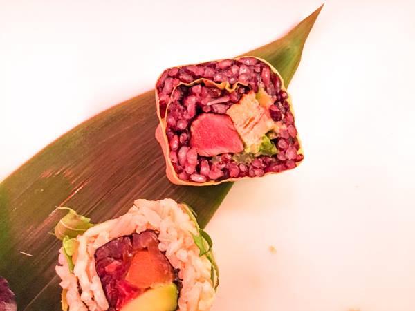 Trippicella, Nigiri  di carne di Kobe con salsa di miele di castgno e zenzero-Fritto di carne marinato e crudo
