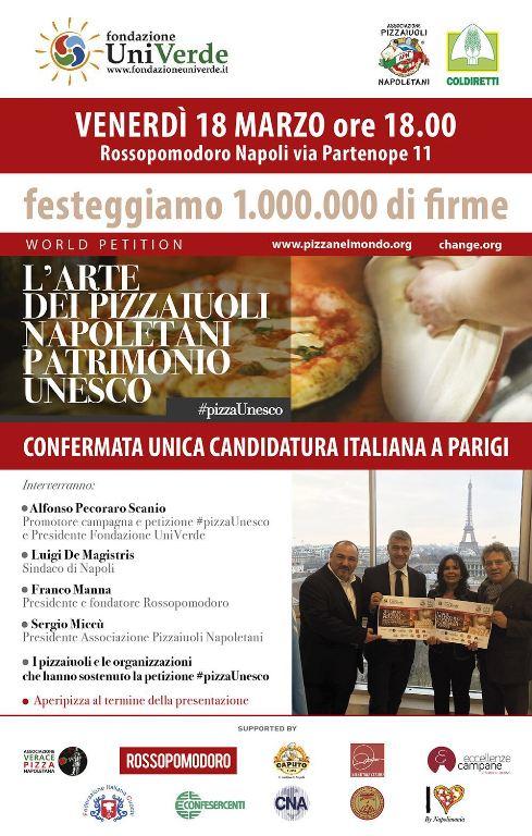 Un milione di firme per la pizza come Patrimonio Unesco: la festa da Rossopomodoro