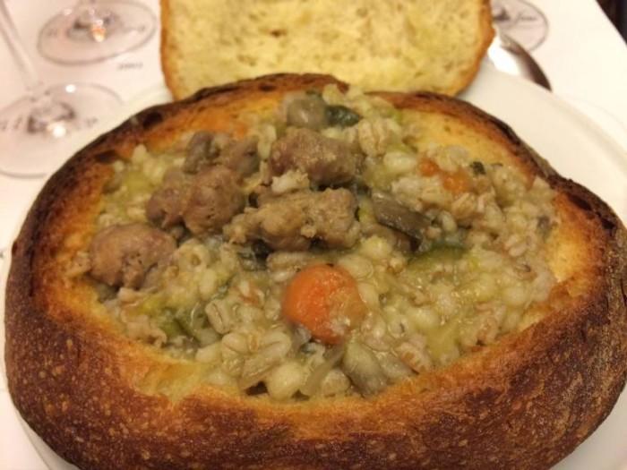 Verticale Il Falcone e Puer Apuliae, uno dei piatti preparati per la degustazione