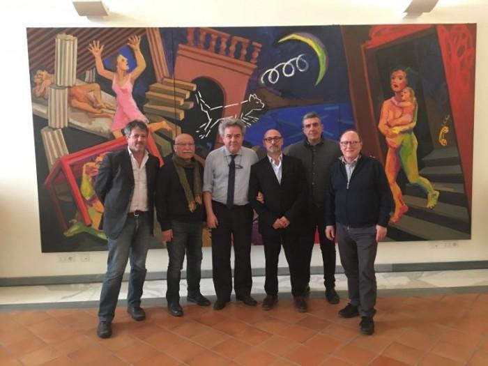 i Viticultori Uniti del Pallagrello con il Direttore della Reggia di Caserta dr. Mauro Felicori