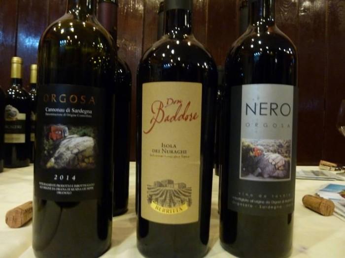 i vini della Cantina Berritta in degustazione durante la serata