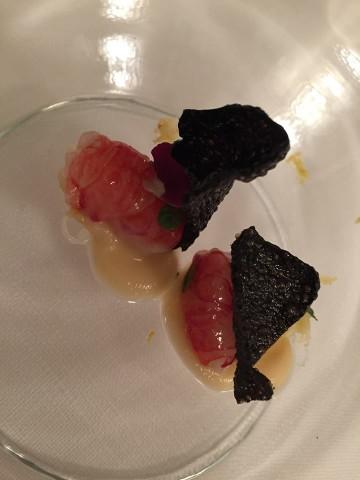 Magnolia Hotel Byron, gamberi rossi di Mazara, sedano rapa e mela verde