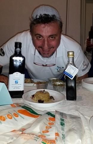 Pasquale Torrente con la sua proposta di pasta rivisitata