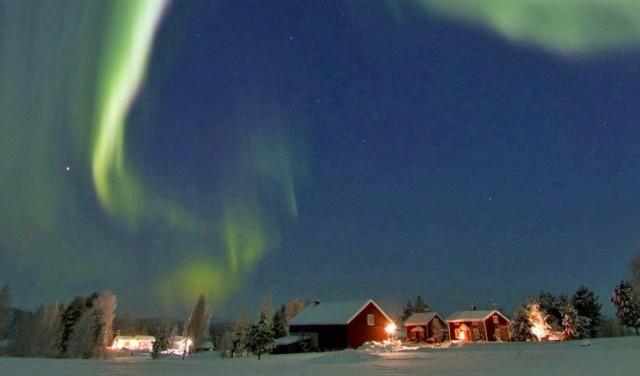 Aurora boreale a Gammelstad