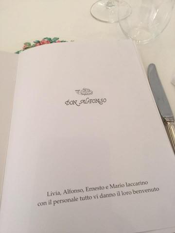 Don Alfonso, benvenuto