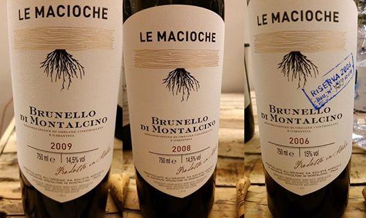 Brunello di Montalcino 2009, 2008 e 2006 Le Macioche