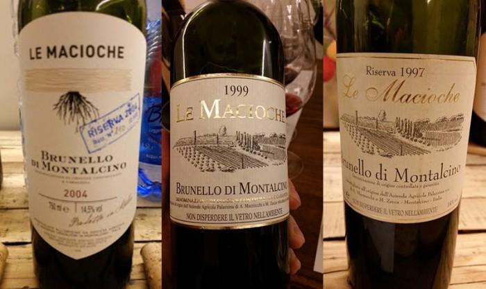 Brunello di Montalcino Riserva 2004, 1999 e 1997 Le Macioche