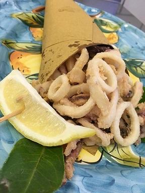 CICA, Cuoppo con calamari fritti