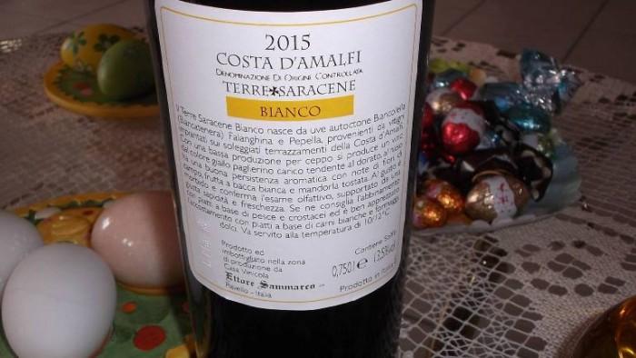 Controetichetta Terre Saracene  Costa d'Amalfi Bianco Doc 2015 Ettore Sammarco