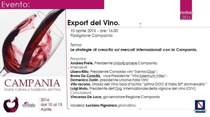 Convegno sull'export del vino al Vinitaly