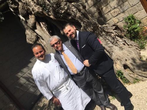 Don Geppi, Alfonso Iaccarino con il cuoco Mario Affinita e Lucio D'Orsi