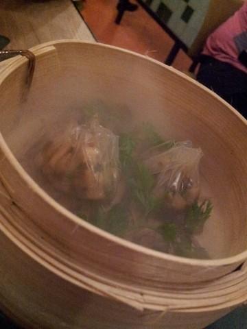 Disfrutar, Dumpling de boletus