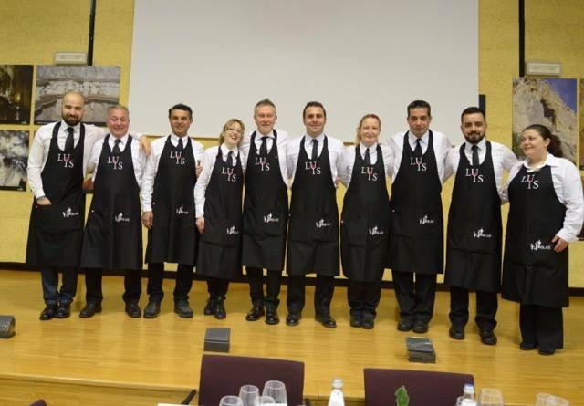 Il Carciofo Bianco di Pertosa nelle creazioni di 10 chef, Vincenzo Isoldi e Giuseppe Lupo con tutto lo staff LUIS della serata