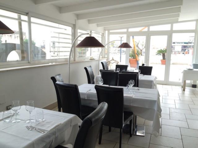 Il ristorante al secondo piano di Palazzo Bonomi
