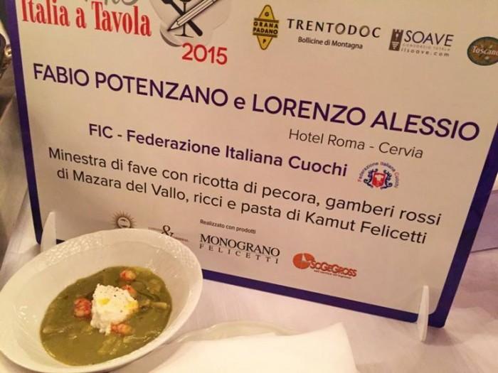 Italia a Tavola, minestra di fave di Fabio Potenzano e Lorenzo Alessio