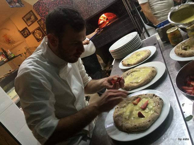 La Chamade. Emanuele e Valerio Di Vaio pizza fragolosa