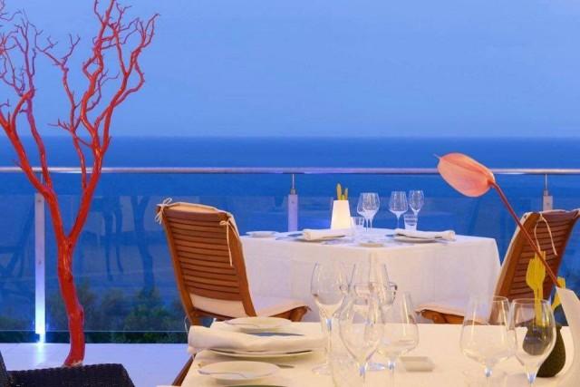La terrazza del ristorante 2 stelle Michelin I 4 Passi di Nerano, dove e' prevista la cena di benvenuto per i charter brokers internazionali