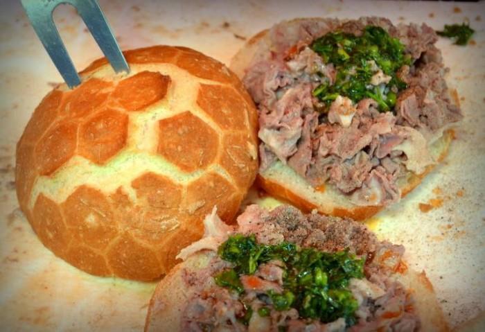 Libando, panino con il lampredotto