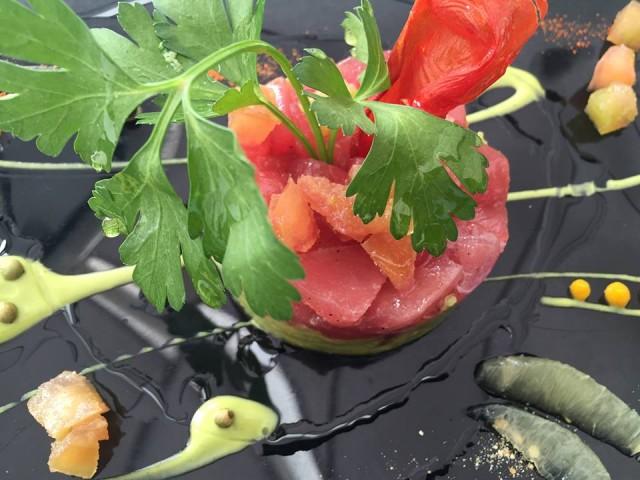Terrazza Calabritto, tartare di tonno e guancamole