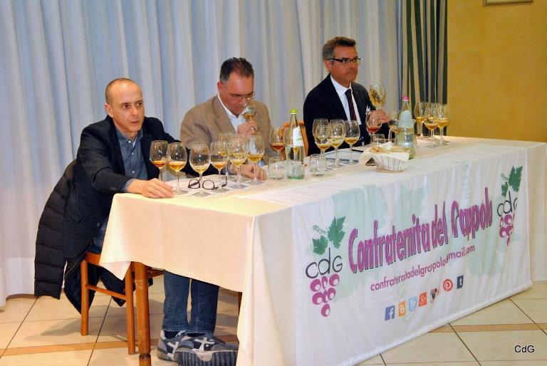 Verticale di Trebbiano d'Abruzzo Doc c'Incanta, Riccardo Brignigna, Pierluca Masciocchi, Andrea De Palma