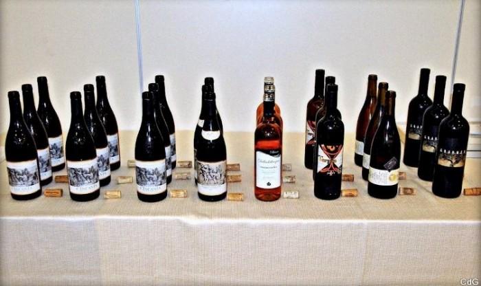Verticale di Trebbiano d'Abruzzo Doc c'Incanta, batteria dei vini in degustazione