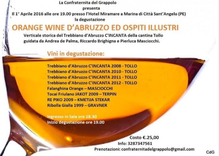 Verticale di Trebbiano d'Abruzzo Doc c'Incanta, la locandina dell'iniziativa