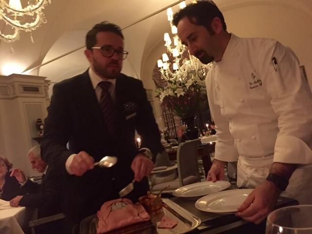 Vito Mollica con il maitre Gabriele Fedele