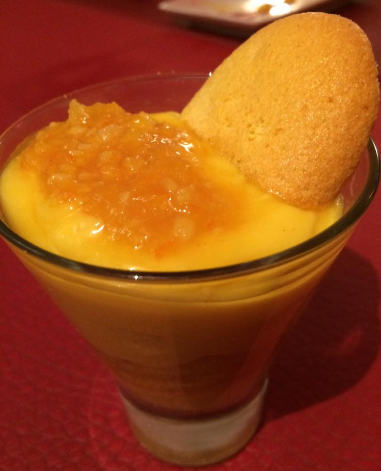 In Fucina, crema pasticciera all'arancia con savoiardi