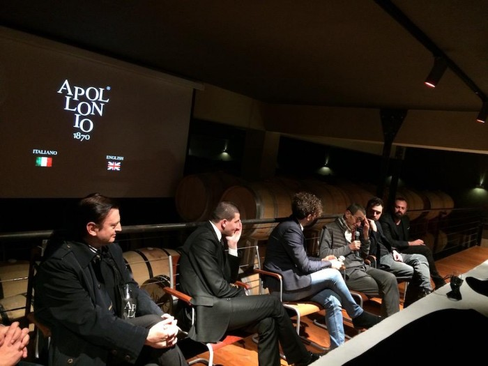 il nuovo video aziendale della Cantina Apollonio, momenti della presentazione