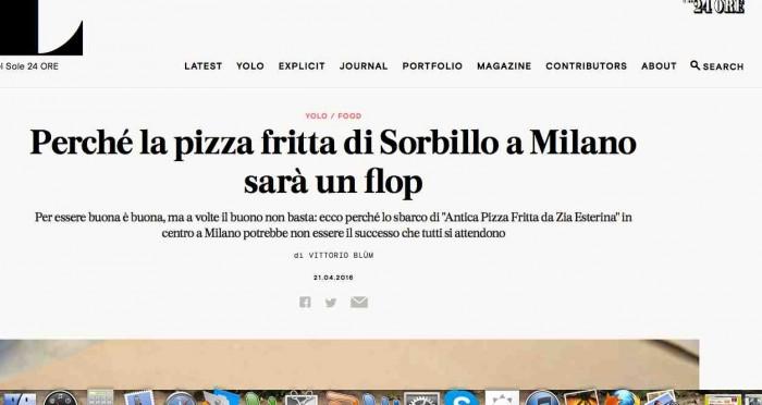 pizza fritta sorbillo milano