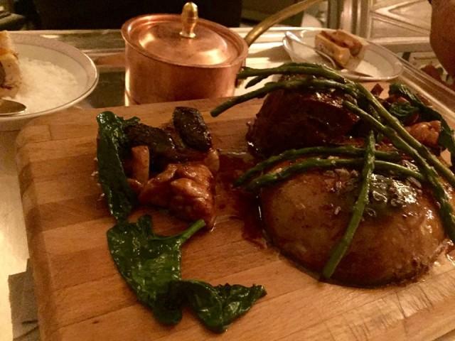 Palagio, chateaubriando con animella e foie gras