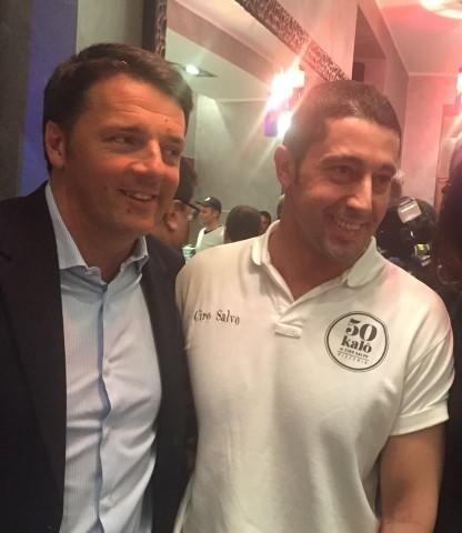 Matteo Renzi con Ciro Salvo