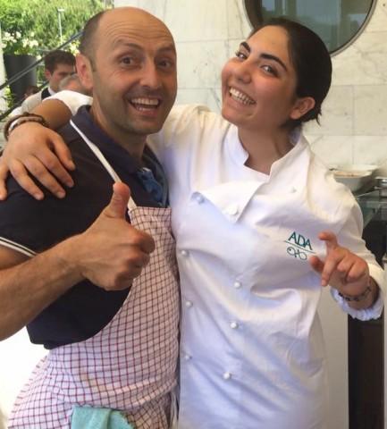 Ada di Ravello con lo chef Rocco Iennaco di Pappacarbone
