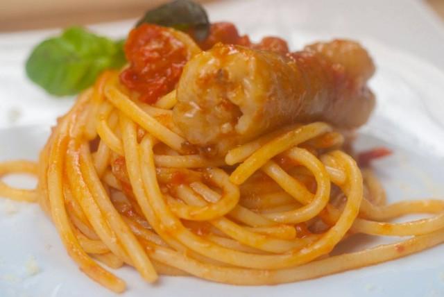 Spaghettone con ventriciello do stocafiso