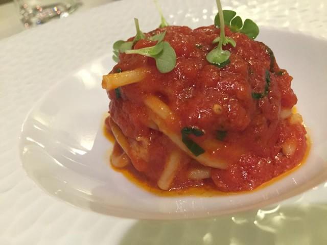Casa del Nonno, spaghettone Vicidomini al pomodoro Stella Rainone-vicidomini